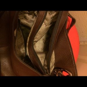 b. makowsky Bags - B. Makowsky glove leather chain brown handbag VGUC